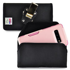 Belt Clip for Galaxy S10+ Plus with OTTERBOX COMMUTER Black Nylon Holster Pouch