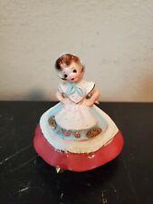 "Vintage Joseph Original's Red Dress Hooded 3.5"" Figurine"