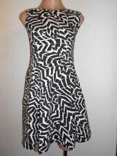 Kiss Size 12 Brown Beige Deep Back Sleeveless Skater Mini Dress BNWT