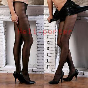 10 Denier High Gloss Oil Shiny Glossy Low Waist Pantyhose Hose Tights Hosiery