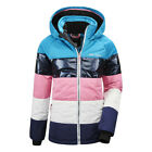 Girls' KILLTEC Fiames Ski Quilted Insulated Jacket AZUR Hooded Winter Snow Coat