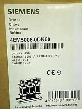 SIEMENS Kommutierungsdrossel für Stromrichter 4EM5008-0DK00 1-Ph. UN1=690V OVP