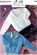 Baby cardigan and sweater, Jumper Pullover, knitting pattern  BOY, GIRL. 6 sizes