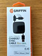 Griffin GC39137-2 Retractable Micro-USB & Lightning Charge Sync Computer Cable