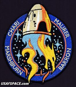 """Authentic NASA SPACEX CREW-3 ISS Mission AB Emblem CREW DRAGON 4.25"""" SPACE PATCH"""