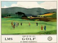 Travel Tourism Railway Sport Golf Putt Green Lms Scotland UK Canvas Print