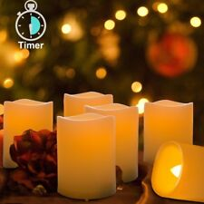 6PCS LED Votive Candles Flameless 400+ Hours Battery with Timer(4H/8H Mode)