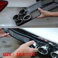 3D Car Carbon Chrome Exhaust Tail Pipes Bumper Sticker Trim Decoration Universal