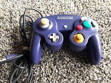 Official Nintendo GameCube Controller Purple Tested WORKS Loose Joystick