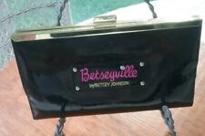 BETSEYVILLE BY BETSEY JOHNSON WOMEN'S BLACK PATENT LEATHER CLUTCH BAG EXCEL CO
