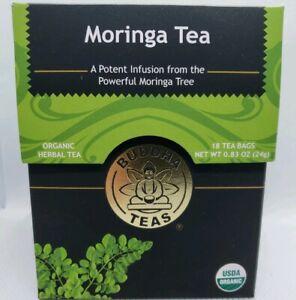Buddha Teas Certified Organic Moringa Tea 18 Tea Bags