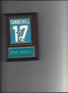 RYAN TANNEHILL JERSEY PLAQUE MIAMI DOLPHINS FOOTBALL NFL