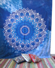 Queen Blue Mandala Hippie Tapestry Indian Wall Hanging Room Deco Bedspread Throw