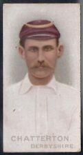 WILLS-CRICKET CRICKETERS 1896- DERBYSHIRE - CHATTERTON