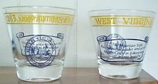 Vintage West Virginia 100th Birthday Rocks/Whiskey Glasses 1863-1963 State Seal