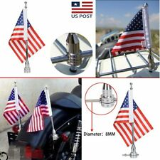 Motorcycle Flag Pole Mount with American US Flag For Honda for Harley for Yamaha