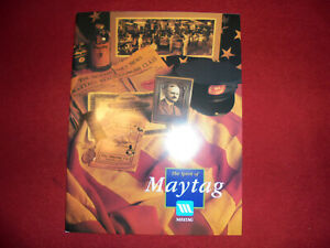 """Old Maytag Co. Promotional Book """"The Spirit Of Maytag"""" Washer Gas Engine Rare !!"""