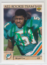 Autographed 1992 Upper Deck Bryan Cox(All-Rookie Team) - Dolphins