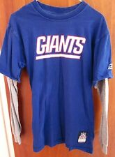 NEW YORK GIANTS youth lrg T shirt longsleeves NFL beat-up tee size 14-16