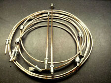 SAAB 99 -  POLISHED CUPRO - NICKEL  BRAKE PIPES FOR LHD CARS