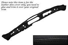 Negro Stitch Dash Dashboard Leather Piel tapa se ajusta Humber Sceptre Mk1