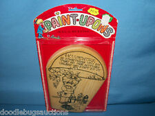 Vintage 1978 Wood Craft RAG-A-MUFFINS Paint Carving Woodburning Wooden Plaque