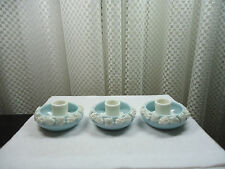 Vintage Japan 3pc Opaque Glass Candle Holders
