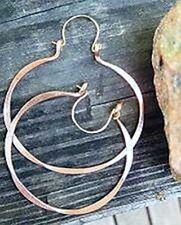Handcrafted Pure Copper Hoop Earrings