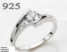 Diamond Ring 925 Silver Size I to U comes with Gift Pouch