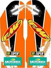 2008-12 KTM FMF Fork Guard Graphics SX EXC 125 200 250 300 380 450 525 stickers
