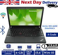 Lenovo ThinkPad E540 15.6-Inch Laptop Intel i3 4th-Gen 2.40GHz 4GB RAM 128GB SSD