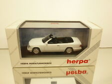 HERPA METALL 70164 MERCEDES BENZ E 320 CABRIOLET WHITE 1:43 - EXCELLENT IN BOX