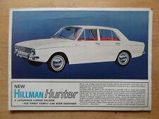 HILLMAN Hunter Saloon orig 1960s UK Market sales brochure - 1725cc