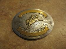 HUGE OLD OLD Silver Western Horse Rider COWBOY Collector Belt Buckle
