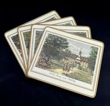 Vintage Pimpernel Colonial Williamsburg Cork Backed Place Mats Set Of 4