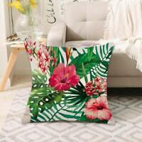 Tropical Plant Print Pillow Case Sofa Throw Cushion Cover U3S5