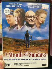 A Month Of Sundays ex-rental region 4 DVD (2001 Rod Steiger drama movie) RARE