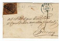 ANTICHI STATI 1862 STATO PONTIFICIO 3 BAJ OLEOSO ROMA 11/7 A/2947