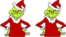 """2 GRINCH That Stole Christmas Decals 4""""  FREE SHIPPING"""