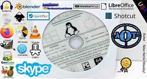 WINDOWS / MAC / LINUX PC ESSENSIALS DVD - BURN , COPY , EDIT , OFFICE, YOUTUBE