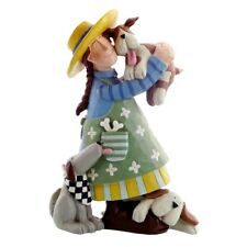 New WILLIRAYE STUDIO Figurine GIRL'S BEST FRIENDS Statue PUPPY DOG BONE LOVE