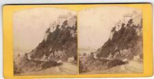 STEREOVIEW - STIRLING CASTLE FROM BACK WALK BY CROWE & RODGERS SCOTLAND