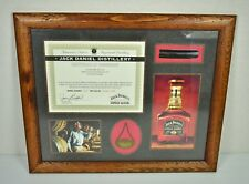 JACK DANIELS Framed Ownership Cert+ from 2004 SINGLE BARREL Extremely HTF READ
