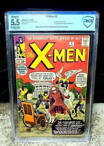 X-Men #2 CBCS 5.5 1st Appearance of Vanisher & 2nd X-Men Appearance Restored