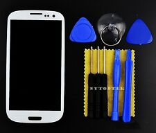White Front Screen Glass Lens Replacement + Tools for Samsung Galaxy S3 SCH-I535