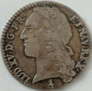 1/10ème écu Louis XV 1763 A Paris argent