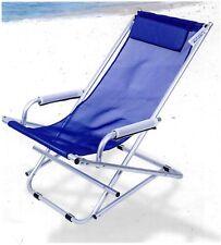 Sdraio Dondolina alluminio e textilene Enrico Coveri giardino Spiaggia esterno Blu