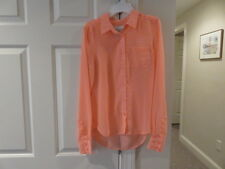 EUC!!  American Eagle Peach Polka Dotted Button Blouse - Size Junior Girls XS