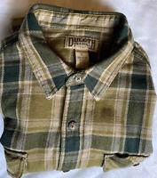 Duluth Trading Men's XL Burlyweight Heavy Plaid 100% Cotton Flannel Shirt