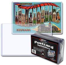 (50) BCW Regular Size Postcard Toploaders Topload Holders Rigid Archival Safe